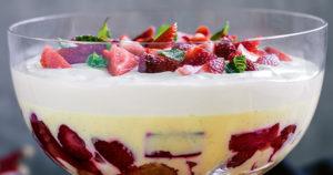 Strawberry Trifle Recipe in Urdu