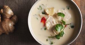 Thai Coconut Soup Recipe in Urdu