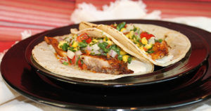 Fish Tacos with Crunchy Corn Salsa Recipe in Urdu