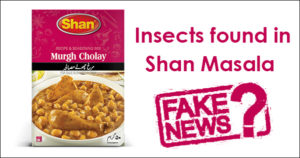 Insects Found In Shan Masala. Fake News?