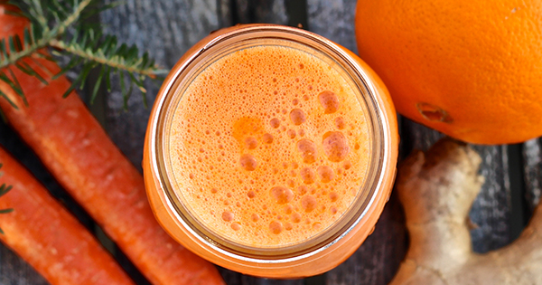 Carrot Ginger and Orange Juice