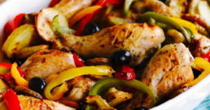 Mediterranean Chicken Tray Bake Recipe in Urdu