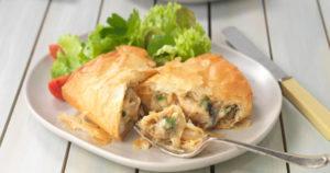 Triple Layered Chicken and Mushroom Pie