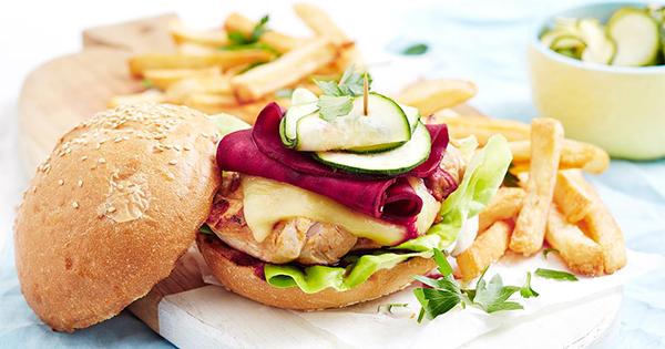 Porteguese chicken burger