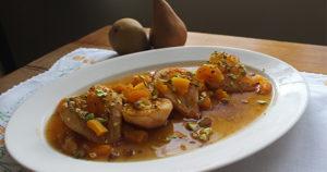 Honey-Pistachio Roasted Pears Recipe in Urdu