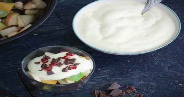 Creamy fruit chat