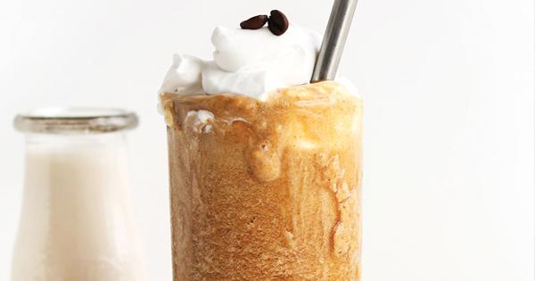iced coffee date almond