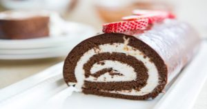 Delicious Chocolate and Coffee Roulade Recipe in Urdu