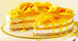 Mango Swirls Cheese Cake Recipe in Urdu