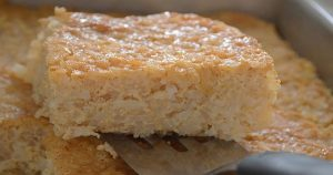 Pudding Squares with Coconut پڈنگ اسکوائرز کوکونٹ کے ساتھ Recipe in Urdu