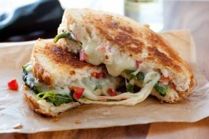 Cheesy Tikka sandwich