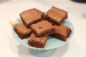 Frosted Chocolate Chip Brownies