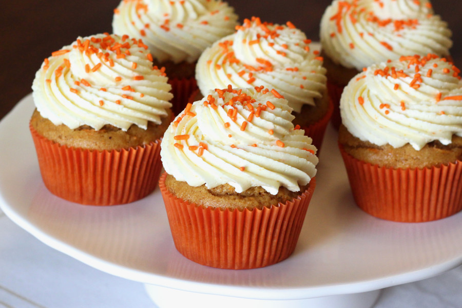 Carrot And Walnut Cup Cakes