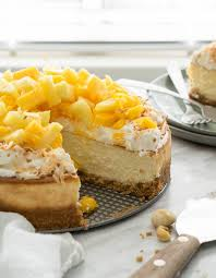 Coconut and Mango Cheesecake