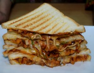 Mexican Cheesy Chicken Sandwich by Warda Khan Recipe in Urdu