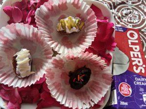 Cream Filled Dates with Olpers Cream Recipe in Urdu