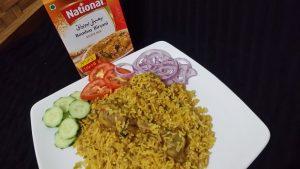 National's Spicy chicken biryani Recipe