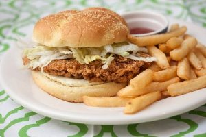 Crispy Fried Chicken Burger Recipe in Urdu