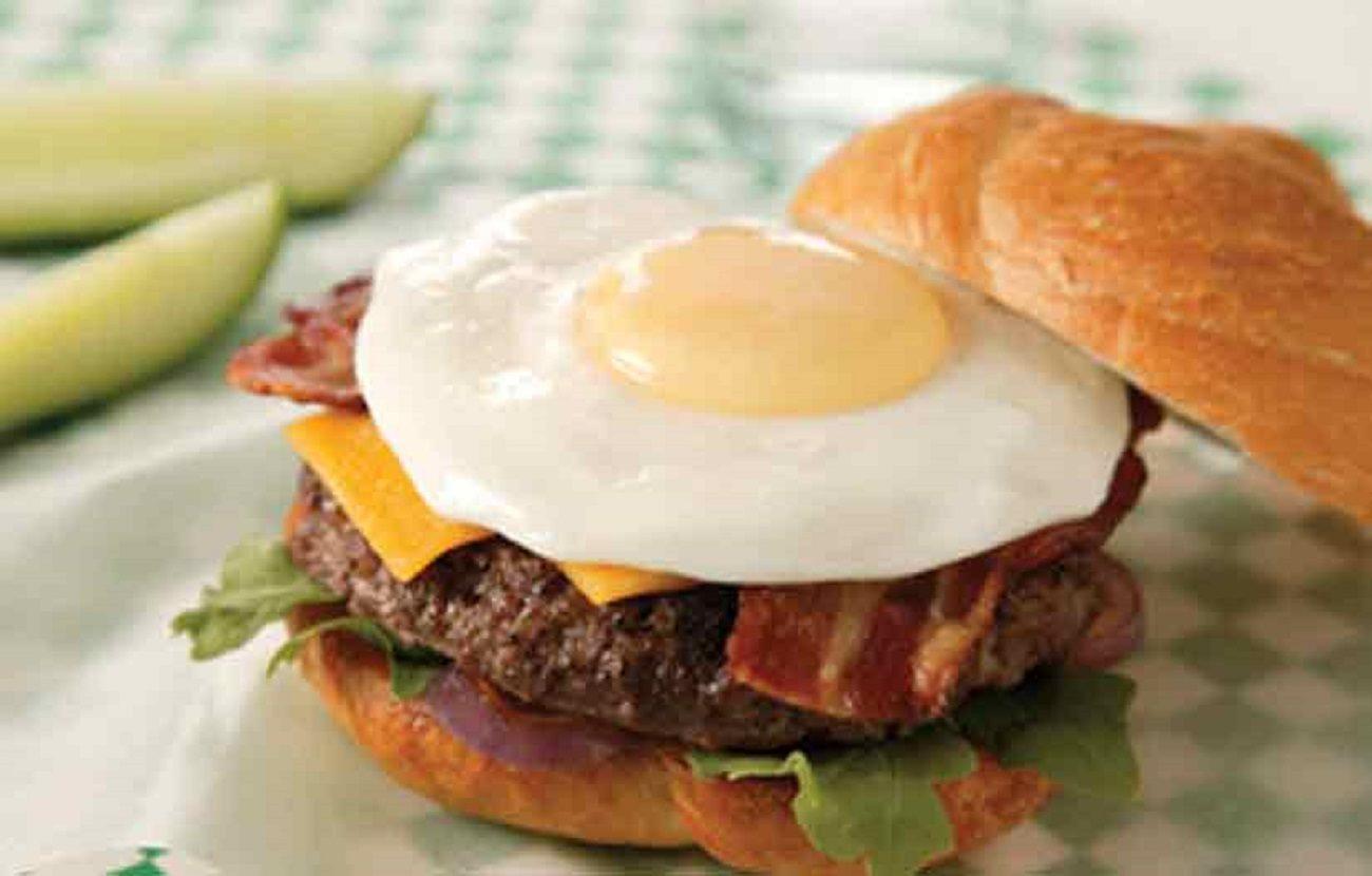 Spanish Style Omelet Burger