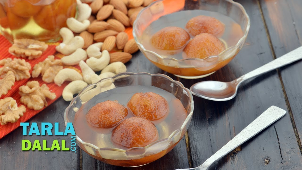 Bread Gulab Jamun Recipe, Quick Indian Sweet by Tarla Dalal