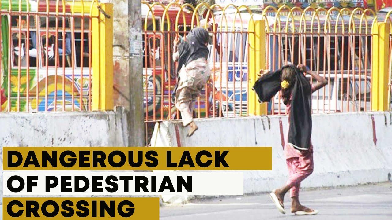 Lack of Pedestrian Crossing Bridge In Karachi