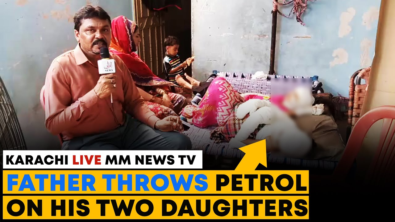 Father Throws Petrol On His Two Daughters
