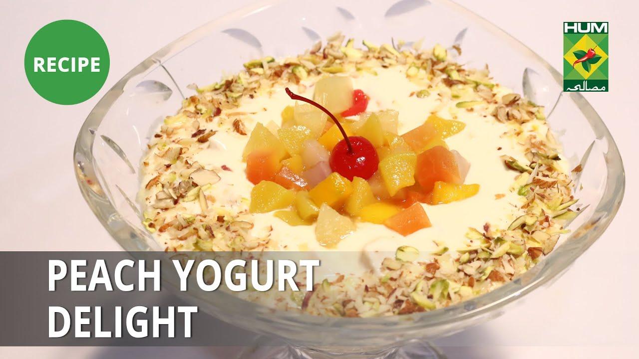 Peach Yogurt Delight Recipe   Lively Weekends   Dessert