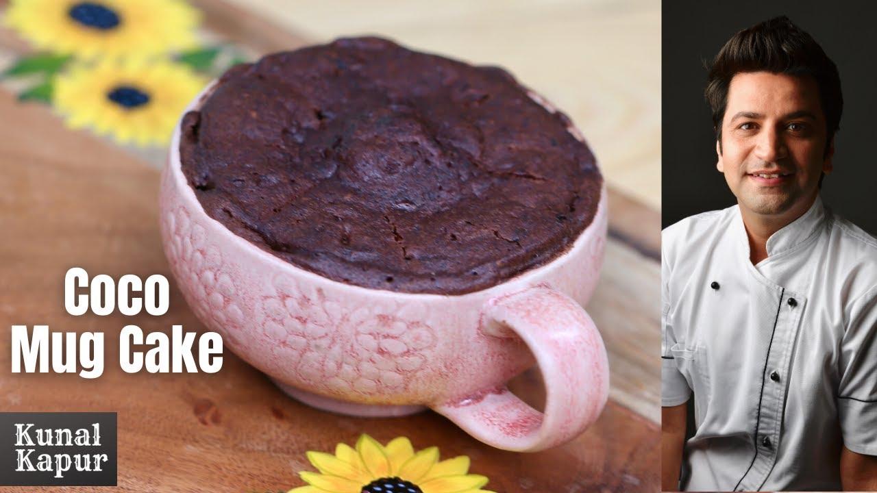 3min Eggless Chocolate Mug Cake Recipe   Kunal Kapur ...