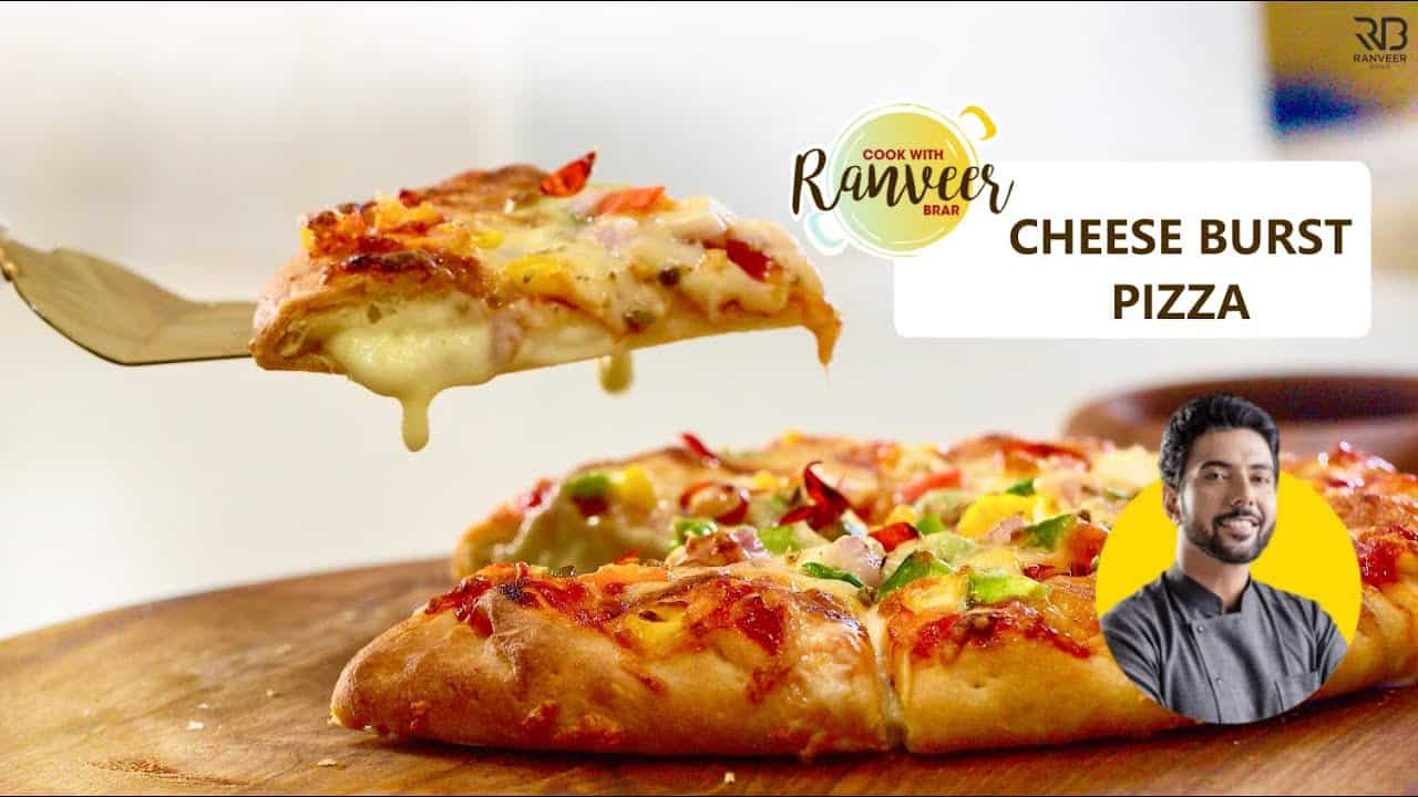 Cheesy Crust Pizza no oven | चीज़ बर्स्ट पीज़्ज़ा घर पे  | Cheese burst no yeast | Chef Ranveer Brar
