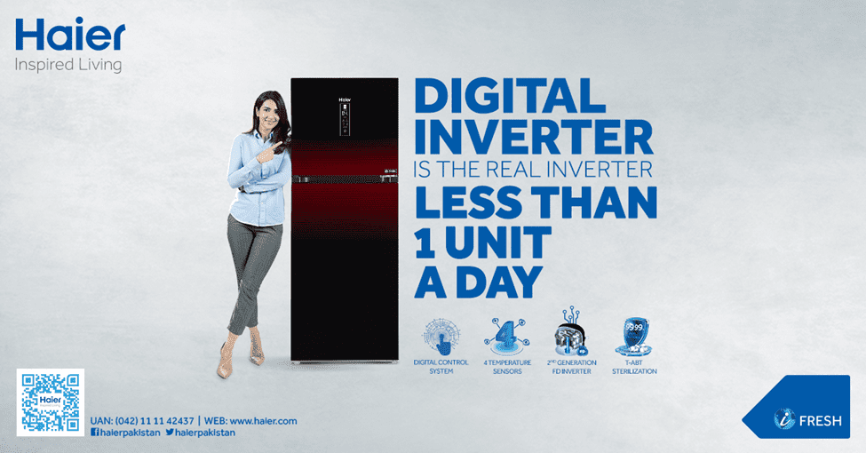 Haier Digital Inverter Refrigerator is the Real Inverter - Less than 1 Unit a Day